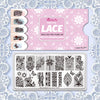 Leopard Flower Lace Bow Series Nail Art Image Print Rectangle Stainless Steel Stamping Plate BEAUTYBIGBANG BBBXL-001