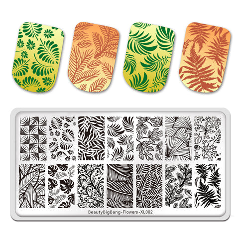 Flower Dandelion Patterns Stamping Template Nail Art Tools BeautyBigBang BBBXL-002