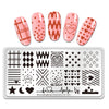 Geometry Star Loving Heart Lines Nail Art Plate Stainless Steel Design Stamp Template for Printing Stencil Tools BeautyBigBang BBBXL-001