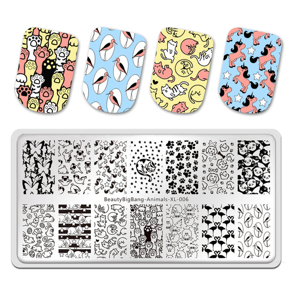 Cat Butterfly Dog Bird Panda  Stamp Templates Printing Stencil Tool BeautyBigBang BBBXL-006