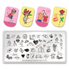 Valentine's Day Lover Heart Couple Kiss Manicure Nail Art Image Template Manicure Stencils Tool BeautyBigBangang BBBXL-001