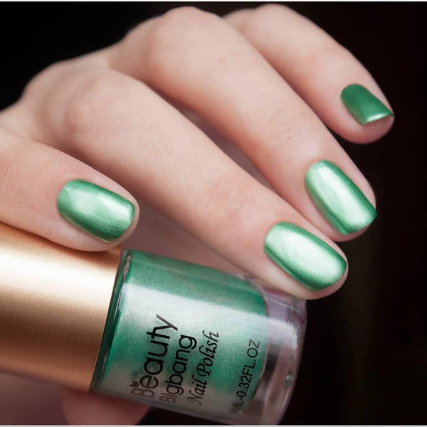 9ML Dark Green Metallic Lacquer Nail Polish Mirror Effect Nail Varnish 003