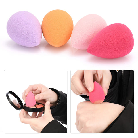 4Pcs Waterdrop Makeup Foundation Puff Beauty Sponge Puff