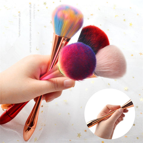 Large Soft Blush Powder Brush Nail Dust Cleaning Brush Nail Tool