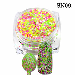 3D Mixed Colors Nail Sequins Nail Glitter Powder Dust Decoration