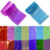 20Pcs Nail Foils Starry Sky Glass Paper Nail Stickers Random Color