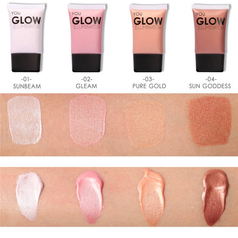 Glow Liquid Face Highlighter Cream for Shimmer Skin Perfector Primer Makeup
