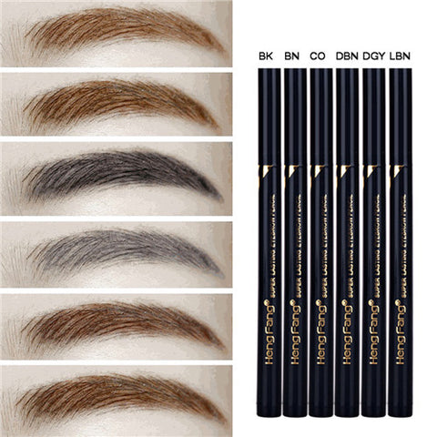 Makeup Eyes Tattoo Long Lasting Black Brown Eye Brow Pen Waterproof Makeup Liquid Eyebrow Pencils