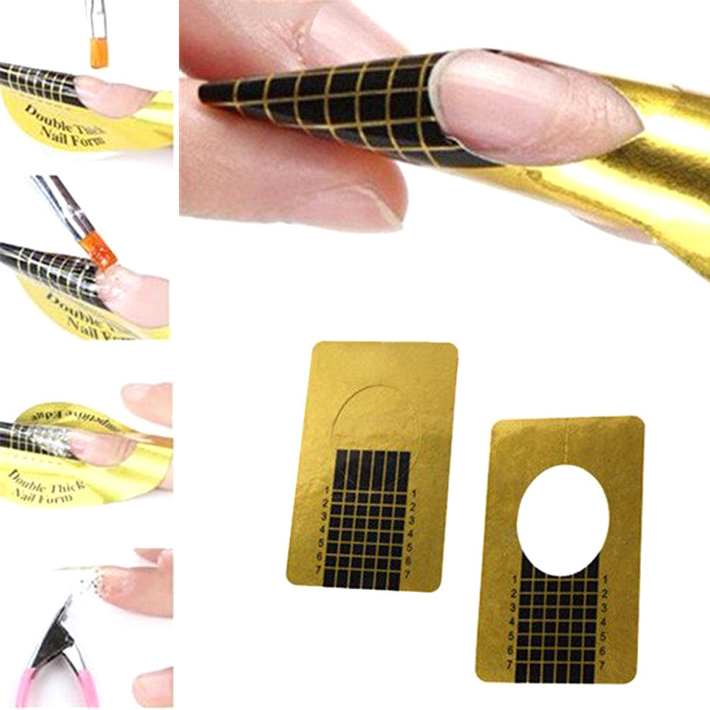 Professional Nail Forms Acrylic Curve Nails Gel Nail Extension ...