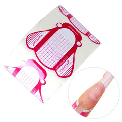 Nail Art Tips Extension Forms Guide French Rose DIY Tool Acrylic UV Gel Tools