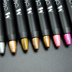 Smooth Eyeshadow Pencil Waterproof Shimmer Eyeliner Mulitfuncation Cosmetic Highlighter