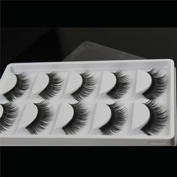 New 5 Pairs Luxurious 3D False Eyelashes Cross Natural Long Eye Lashes Makeup