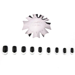 French Tips Smile Line Metal Cutter Edge Trimmer Nail Template