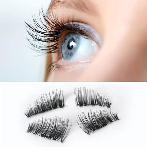 1 Pair 3D Magnetic Eyelashes No Glue Required Ultra Thin Reusable False Eyelashes