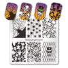 Halloween Nail Stamping Plate Skull Spider Cobweb Ghost Theme Plates