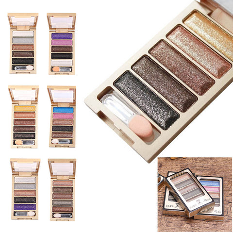 5 Colors Glitter Shimmer Diamond Eyeshadow Palette For Eye Makeup