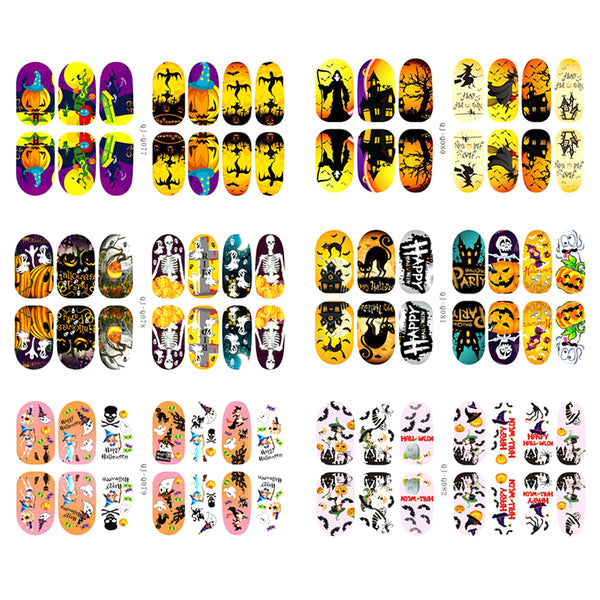 2Sheets Halloween Pumpkin Bat Nail Art Stickers Nail Art Accessory