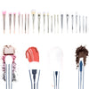 7Pcs Acrylic Diamond Powder Eyebrow Makeup Brushes
