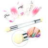 Double-ended Gradient Shading Nail Brush With 4Pcs Replacement Sponge Heads Nail Tool