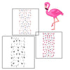 Colorful Flamingo Beach Nail Water Decals Transfer Nail Art Stickers