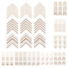 3D Mini Gold Beads Metal Tips Stripe Wave Design Nail Art Stickers