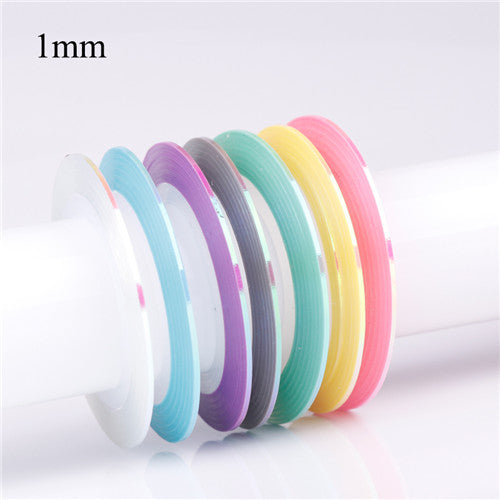 Mermaid Laser Candy Color Nail Striping Tape Line Adhesive Nail Stickers