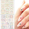12 Sheets Xmas Holly Santa Design Water Decals Transfer Nail Art Stickers