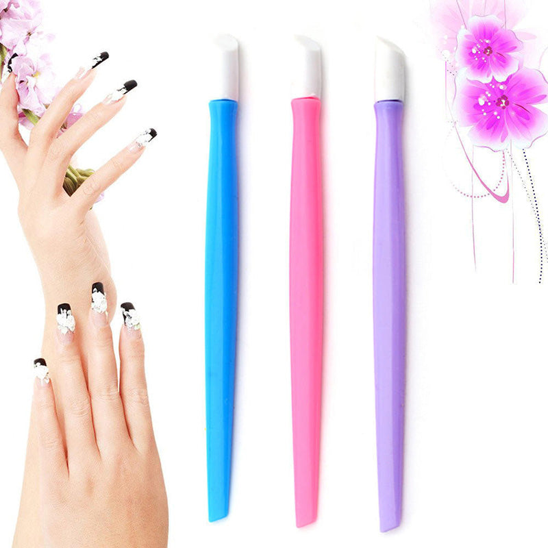 Plastic Handle Nail Cuticle Remover Tool For Manicure