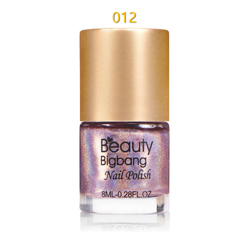 8ML Light Purple Holographic Nail Polish Laser Glitter Hologram Effect Nail Varnish 012