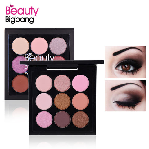 9 Colors Matte Eyeshadow Palette Earth Tone Naked Shimmer Pigment Glitter Eye Shadow