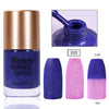 9ML Blue Glitter Temperature Color Changing Thermal Nail Polish For Manicure 020
