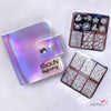 20 Slots Unicorn Rainbow Square Organizer Holo Nail Stamping Plate Holder Case