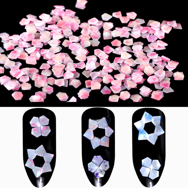 3D Diamond Sequins Polygon Jade Series Nail Decorations For Manicure