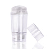 Double-end Silicone Clear Jelly Head Nail Stamper & Scraper Nail Stamping Tool