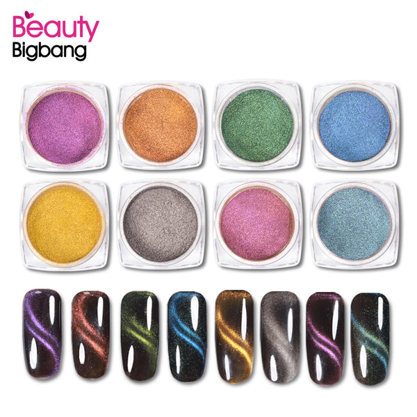 1g Cat Eye Magnetic Nail Powder Magnet Nail Art Glitter Pigment For