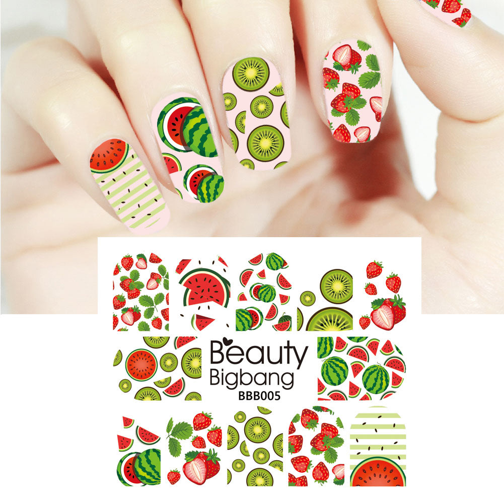 Fruit Series Water Decals Transfer Nail Art Stickers Decoration ...