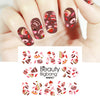 5Pcs Unicorn Flower Water Decals Transfer Cake Theme Nail Art Stickers