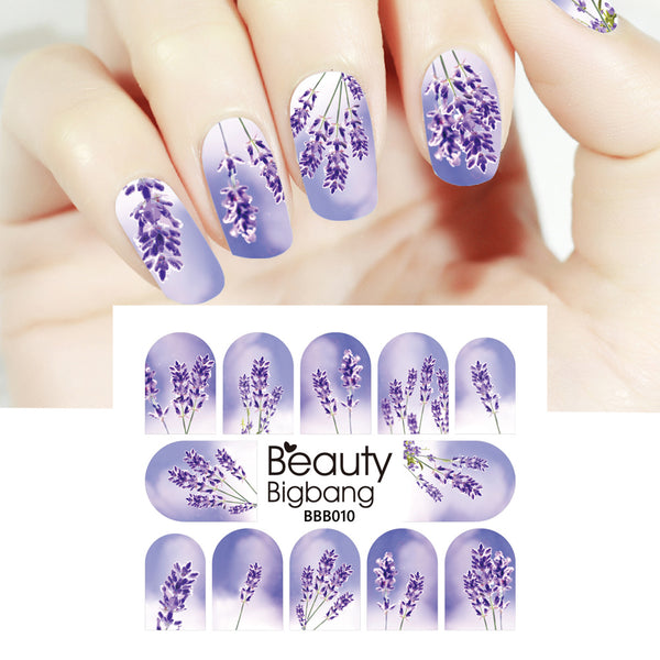 Lavender Designs Water Decals Transfer Nail Art Stickers BBB010