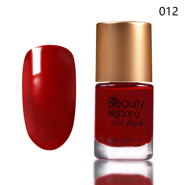 9ML Dark Red Long Lasting Quick Dry Enamel Design Nail Polish