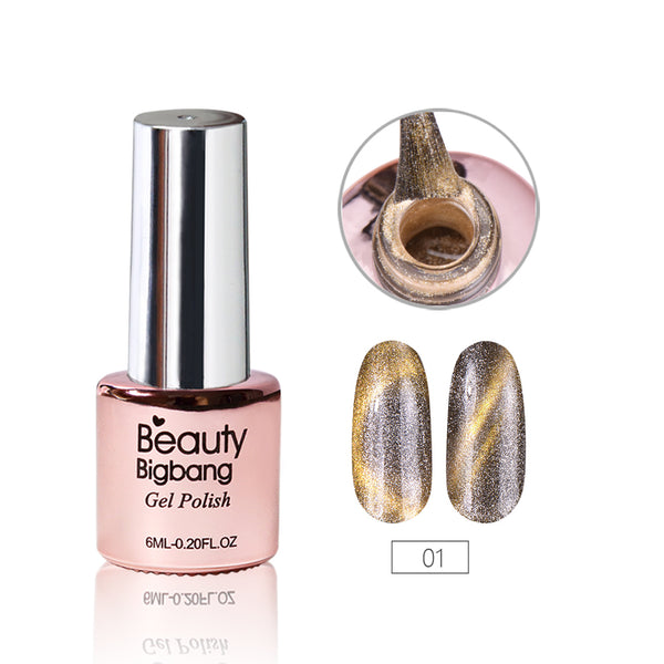 6ML DarkKhaki Magnetic Cat-Eye Gel Polish Chameleon UV Gel Polish Gel Varnish Lacquer Soak Off 01