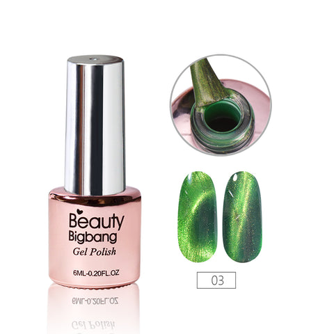 6ML SeaGreen Magnetic Cat-Eye Gel Polish Chameleon UV Gel Polish Gel Varnish Lacquer Soak Off 03