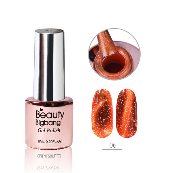6ML Orange Magnetic Cat-Eye Gel Polish Chameleon UV Gel Polish Gel Varnish Lacquer Soak Off 06