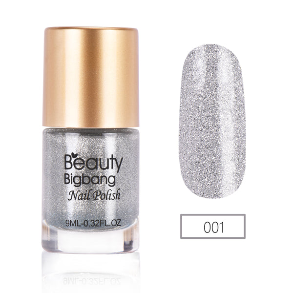 9ML Silver Crystal Diamond Glitter Nail Polish For Manicure Nail Art Decoration 001