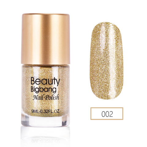 9ML Golden Crystal Diamond Glitter Nail Polish For Manicure Nail Art Decoration 002