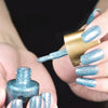 9ML Sky Blue Crystal Diamond Glitter Nail Polish For Manicure Nail Art Decoration 006