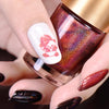 9ml Red Holographic Nail Stamping Polish Holo Laser Lacquer Nail Art Plate Printing 004