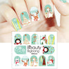 Christmas Series Water Decals Transfer Nail Art Stickers BBB020