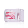 Rectangle Silicone Nail Art Stamper & Scraper Clear Handle Nail Stamping Tools