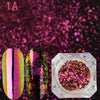 0.1g Chameleon Top Grade Duochrome Flake Sequins Mirror Powder For Nail Art