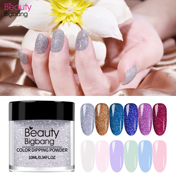 15 Colors Dipping Nail Powders Gradient Holographic Nail Glitter French Nail Art